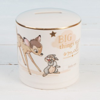 Ceramic Money Box with illustration of Bambi and Thumper